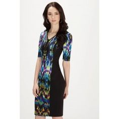 Maggy London Prism Print Scuba Dress