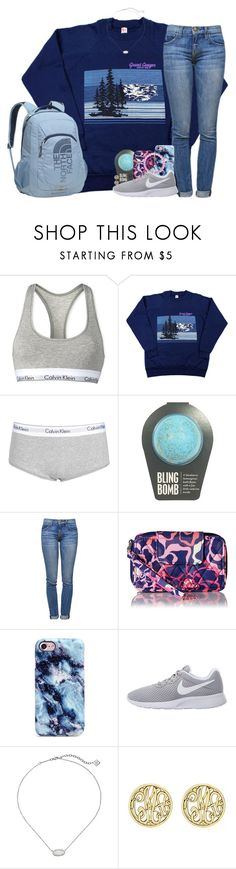 """Tomorrow's my birthday!!☺️"" by southernstruttin ❤ liked on Polyvore featuring Calvin Klein, Current/Elliott, Vera Bradley, NIKE, Kendra Scott, Alison & Ivy and The North Face"