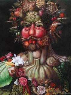 Painting: Le Vertumne - Rudolf II (Arcimboldo)