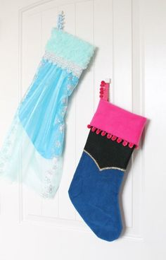 These Disney's Frozen-inspired stockings are sure winners for anyone with little ones obsessed with Anna + Elsa.