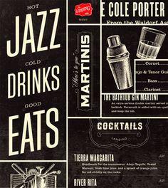 Identity design for the San Antonio jazz club The Landing  by Jamie Stolarski - www.j-sto.com/