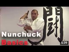 How to use Nunchucks for beginners Part 1 Basic Nunchuck Drill with Sensei David - Bing video Isshinryu Karate, Martial Arts Weapons, Martial Arts Training, Bing Video, Tai Chi, Self Defense, Kung Fu, Drill, Exercise