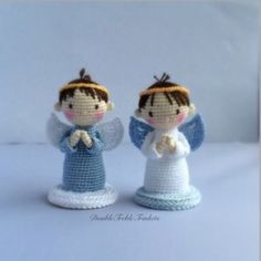 #crochet, free pattern, amigurumi, angel boy and girl, X-mas, Christmas, #haken, gratis patroon (Engels), engel, jongen, meisje, Kerstmis, decoratie, #haakpatroon