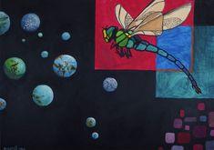 """296 kedvelés, 2 hozzászólás – Horváth Kincső Art (@horvathkincso_art) Instagram-hozzászólása: """"Szitakötő (olaj, papír / 2012) 🖤🚁 #dragonfly #8yearsold #littleuniverse #contemporaryart #kortárs…"""" Painting, Art, Instagram, Art Background, Painting Art, Kunst, Paintings, Performing Arts, Painted Canvas"""