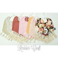 boho baby bibs made by Reddies Craft