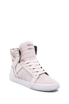 Supra Skytop Sneaker in Pink Blush Suede//