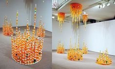 Artist creates eco friendly installation from recycled medicine bottles - Promoting Eco Friendly Lifestyle to Save Enviornment - Ecofriend