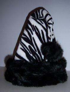 zebra print Santa hat - Vanessa?   Etsy