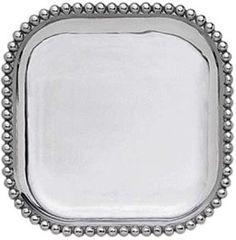 Amazon.com | Mariposa Pearled Square Platter: Platters