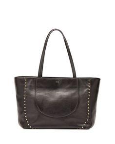 V2R51 Chloe Isa Calfskin Shopper Bag, Black