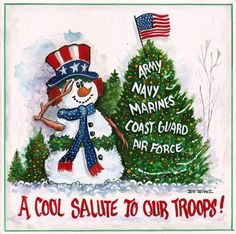 salute to our troops!! Thank you all for your time you sacrifice from your families to serve...Merry Christmas
