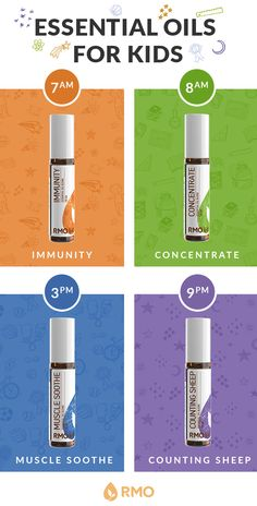 These essential oil blends are safe for kids and come in easy roll-on bottles! Use Counting Sheep blend for sweet dreams and Immunity blend to help protect your kids against various environmental threats. Shop the Kids Line to find the blends that are right for you and your family!