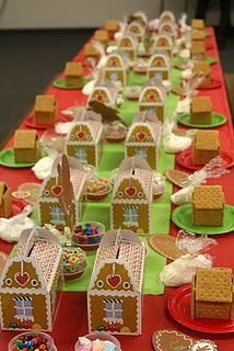 I want to have a Gingerbread decorating party - Have a group of friends over to have a few laughs & take some time out from the busy holiday season.  Good way to de-stress.  Serve cocktails, of course.