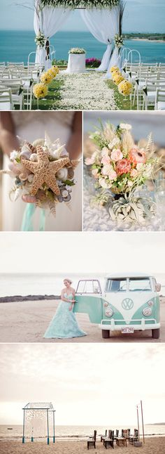 Have you ever imagined yourself marrying barefoot in the sand at an intimate beach wedding?  If so, you probably also want to incorporate your own signature styles into the wedding with some creative designs, decor, props, and favors.  Here are some lovely ideas to ensure that your unique wedding will shine through a lifetime of …