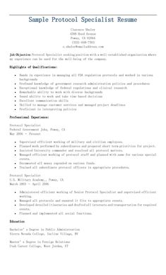 Protocol Specialist Sample Resume Sample Public Affairs Specialist Resume  Resame  Pinterest