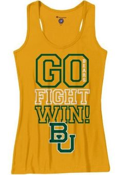 Just in time for Dia... // #Baylor womens racerback tank (available from the Baylor Bookstore) #sicem