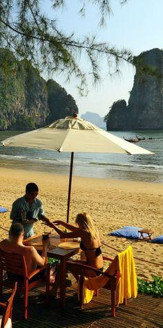 beach front dining at Centara Grand Beach Resort & Villas Krabi, Thailand