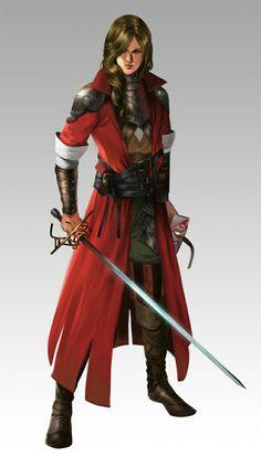 Female Vigilante - Pathfinder PFRPG DND D&D d20 fantasy