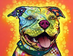 """Dewey Pit Bull"" by Dean Russo"
