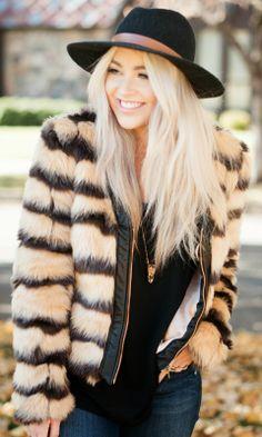 faux fur. loooove this jacket!