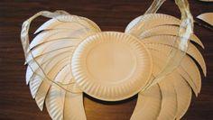 Costumi di Carnevale: le ali da angelo fai-da-te con i piatti di carta