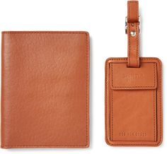 Leather Passport Cover and Luggage Tag
