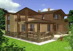 Проект коттеджа. #architecture #3dvisualization #housing #english #british #anglican #royal #3floors_9m #200_300м2 #facade_brick #cottage #mansion #architecture