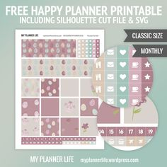 Free Pastel Egg Planner Stickers {including Silhouette Cut Files & SVG} from My Planner Life
