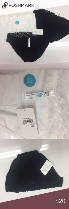 Bp Under Cover Bikini Panty Lot Bundle of 3 Lace Lace trim  Bp brand 1 White size M 2 Black both size S bp Intimates & Sleepwear Panties