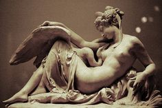 Leda and the swan, Albert ernst carrier belleuse