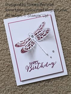 Happy Friday! Today I'm sharing one of the quick and easy cards we made at the Stamp-a-Stack last Sunday. I CASEd the idea from Mary Fish...