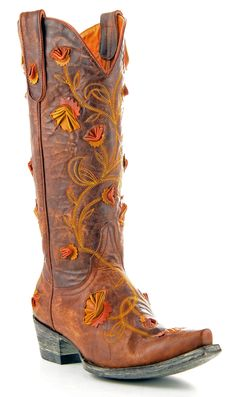 Womens Old Gringo Abby Rose Boots Vesuvio Brass #L664-8