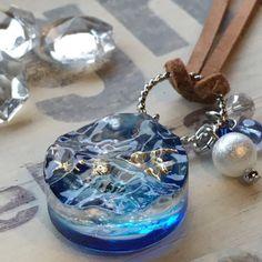 小さな海切りレジンのネックレス の画像|furu道具にっき~大好きな古道具とビーチコーミングと手作り雑貨~