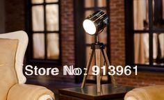 Aliexpress.com: Comprar 2013 el más nuevo diseño PARIS RETRO real fuerza aérea de madera lámpara de mesa trípode ligero turística Searchlight envío gratis de bombilla de luz fiable proveedores en Best Gift Trading Co., Ltd