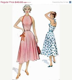 ON SALE Vintage 50s Sewing pattern McCalls 9399 by sandritocat, $34.00