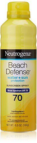 Neutrogena Beach Defense Body Spray Sunscreen with Broad Spectrum SPF Water-Resistant and Oil-Free Sun Protection, oz Broad Spectrum Sunscreen, Neutrogena, Facial Skin Care, Body Spray, Sun Protection, Shampoo, Summer Beauty, Beach