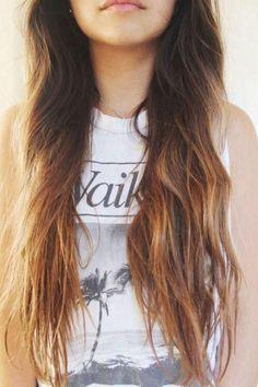 hair ideas for long hair. Long hair with waves.