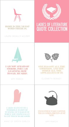 "@Summer Harms - you know i need this for my classroom! what teacher of ""women & literature"" could refuse these?! Ladies of Literature Quote Collection"
