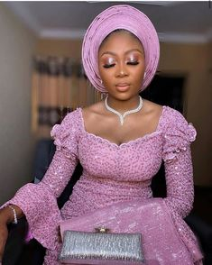 35 Elegant Lace Aso-Ebi Styles To Inspire Your Next Owambe Outfit - photo Nigerian Lace Styles, Aso Ebi Lace Styles, African Lace Styles, Lace Dress Styles, Lace Dresses, Ankara Styles, African Style, African Beauty, Blouse Styles