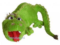 Dorus is een grote draken handpop van Living Puppets. Dierpop draak 100 cm lang