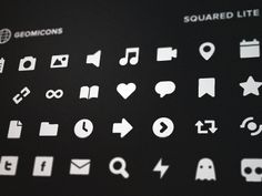 FREE sleek icons // by Brent Jackson