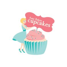 Amy Bakes Cupcakes Logo by Lauryl Kuntzman, via Behance - veru cute logo. Old school