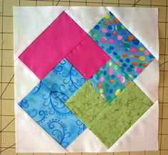 quilt block card trick finished  Such a clever way to simplify a complicated block