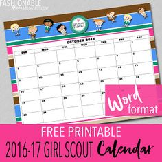 Daisy girl scout newsletter template introduction to for Girl scout calendar template