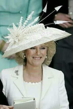 Camilla, Duchess of Cornwall, April 2005 Prince Charles And Camilla, Prince Phillip, Camilla Duchess Of Cornwall, Duchess Of Cambridge, Philip Treacy Hats, Wedding Pinterest, Outfits With Hats, Queen Elizabeth Ii, British Royals
