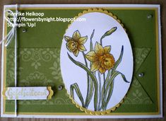 Flowers by night: You're Inspiring Stampin 'Up!