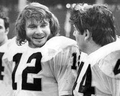 KENNY STABLER, QUARTERBACK FOR THE RAIDERS WITH MARV HUBBARD, RAIDERS RUNNING BACK. (Zuma Press/Icon Sportswire)
