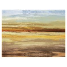 Lend artful intrigue to your living room or den with this eye-catching canvas print, showcasing an abstract horizon motif.  Product:...