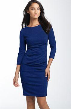 Good work dress. Southside Blue!!Nicole Miller Ruched Ponte Knit Sheath Dress   Nordstrom