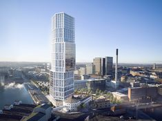 """Image 12 of 15 from gallery of C. Møller Architects Reveal Images of """"Sculptural Landmark"""" Tower at the Port of Aarhus. Aarhus, Landscape Engineer, Public Restaurant, Urban Fabric, Architecture Visualization, Site Plans, Architecture Office, Amazing Architecture, Building Structure"""